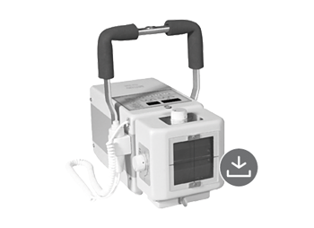 Portable battery-operated monoblock X-ray machine with high frequency technology