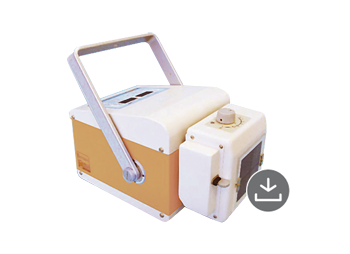 Battery-operated portable monoblock X-ray machine with high frequency technology