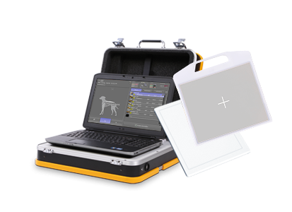 Wireless radiography with the incredibly light and compact X-ray suitcase system