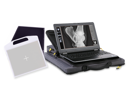 Lightweight, portable and digital X-ray system in a backpack