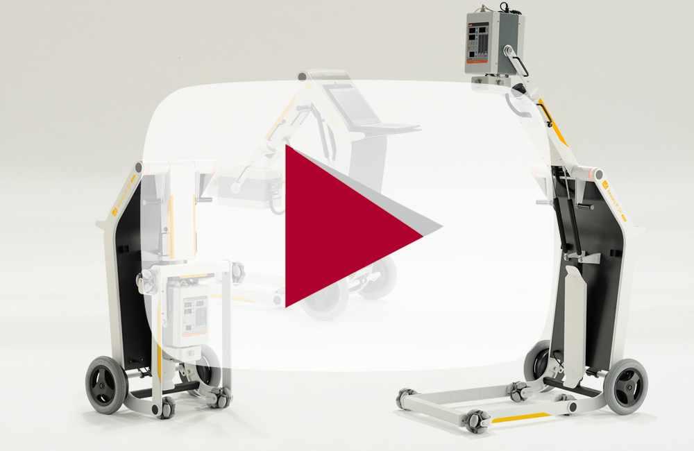 Wireless, digital X-ray machine with a lightweight and portable complete solution