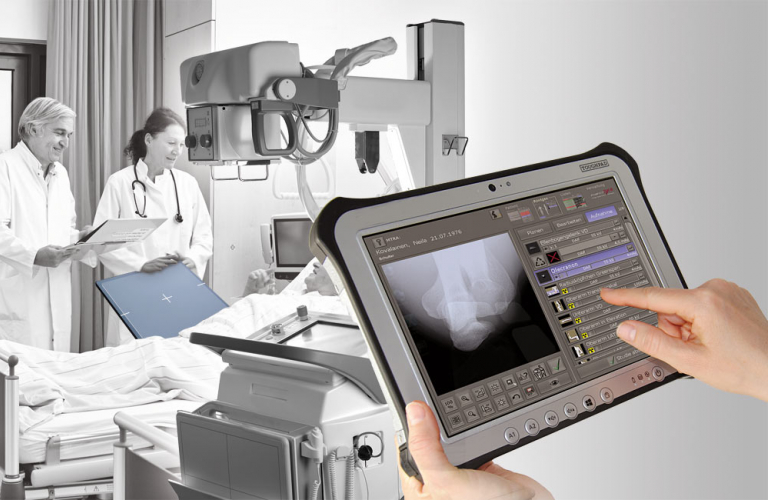 X-ray image acquisition and diagnostic software: Touchscreen operation – ensures a quick, efficient and orderly workflow