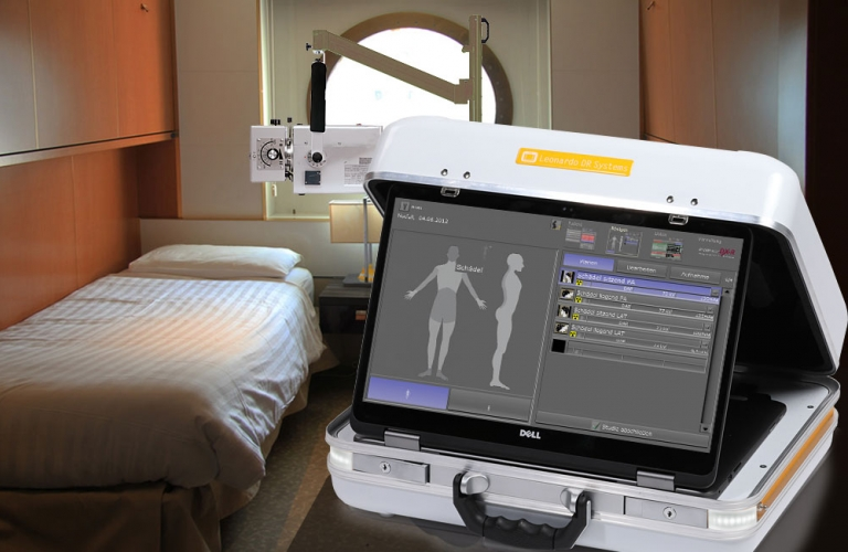With the X-ray suitcase you can provide both passengers and crew members on board with the best possible medical X-ray care in an emergency