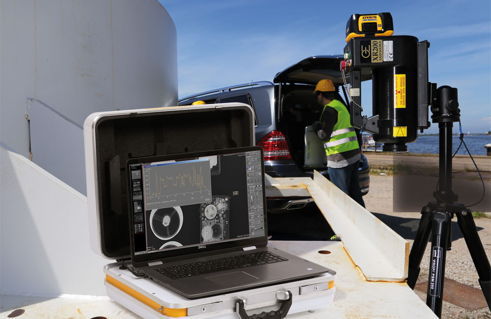 NDT   Inspection: Portable digital X-ray suitcase for mobile RT