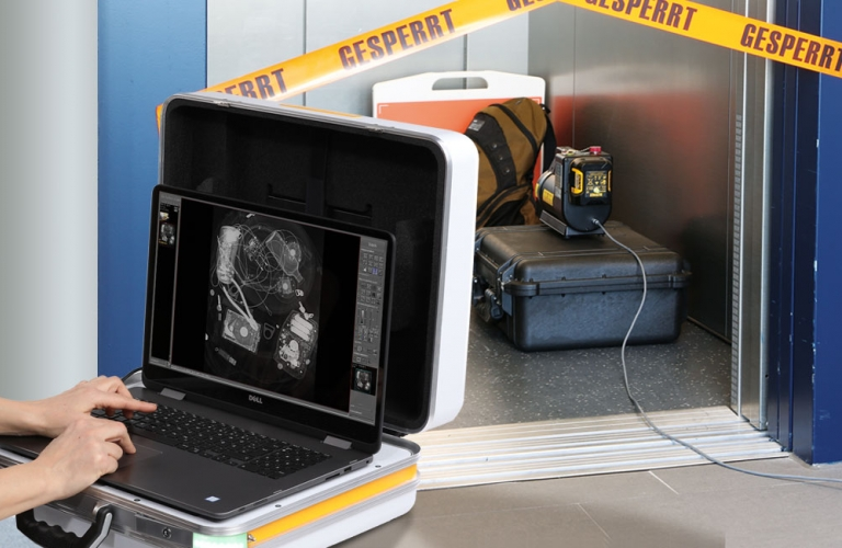 One of world's lightest portable X-ray systems for mobile examinations for materials testing or quality inspection
