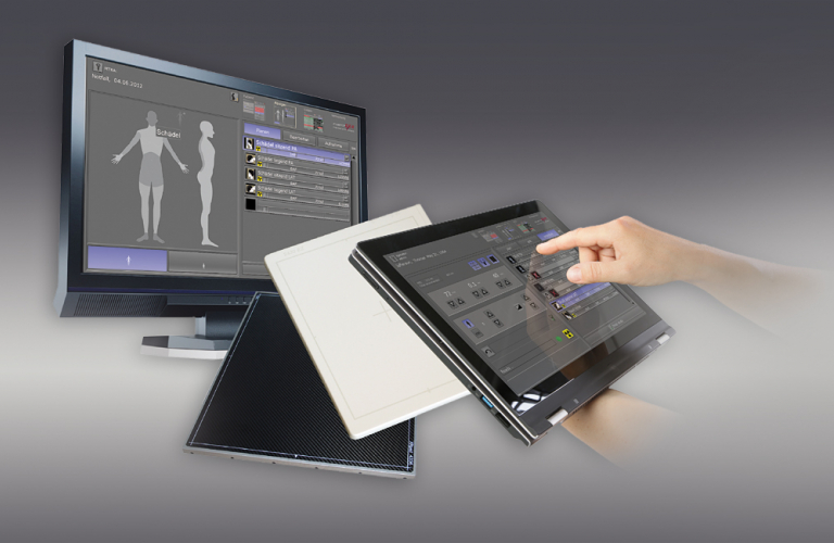 The dicomPACS DX-R image acquisition software is easy to operate, has a touchscreen interface and improves your workflow