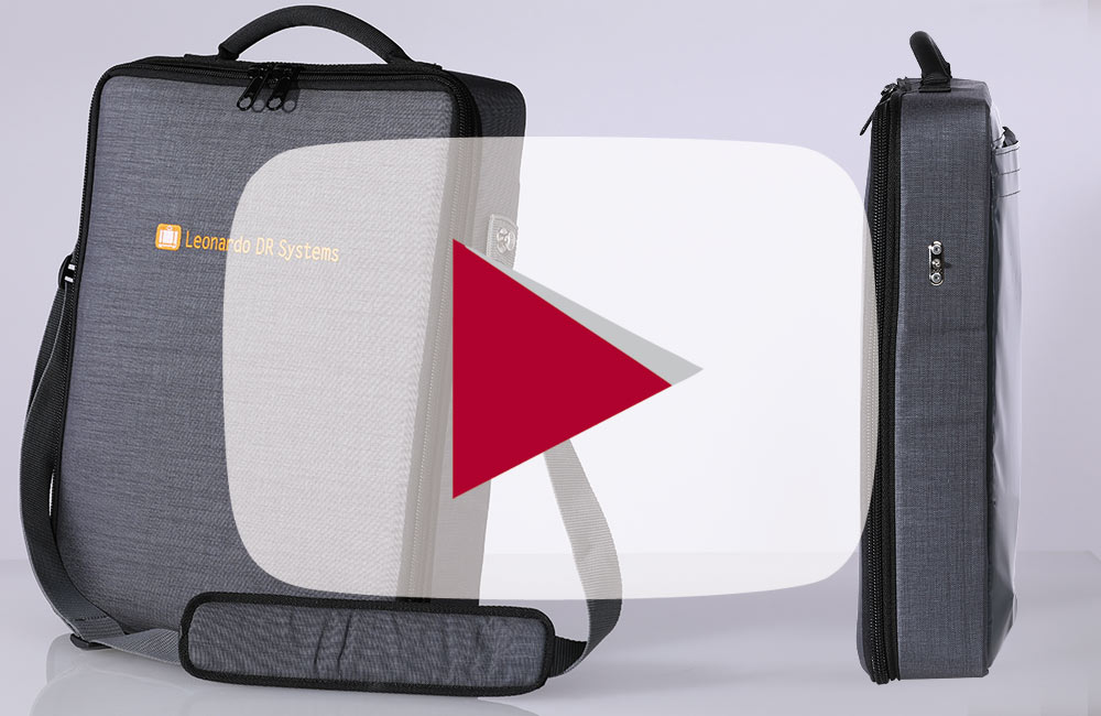 Comfortable, sturdy X-ray bag - also suitable  as shoulder bag or backpack - only with X-ray detector and notebook